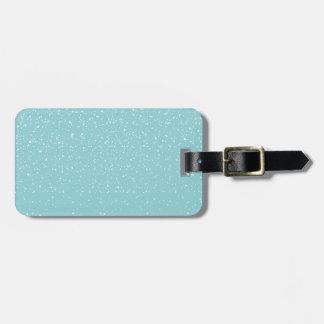 Étiquette À Bagage Le pays des merveilles chaud turquoise d'hiver de
