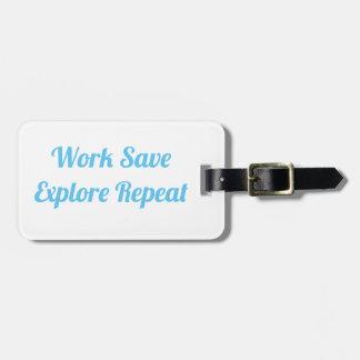 Étiquette À Bagage Les économies de travail explorent l'étiquette de