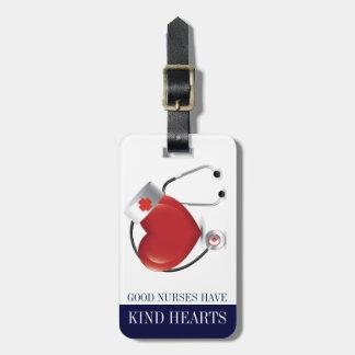 Étiquette À Bagage Les infirmières ont le coeur aimable - étiquettes