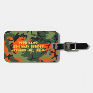 Étiquette À Bagage Lettrage orange de fusil de chasse de l'étiquette