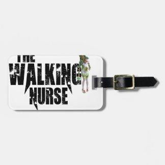 Étiquette À Bagage L'infirmière de marche