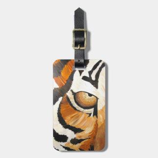 Étiquette À Bagage L'oeil du tigre (acrylique original)