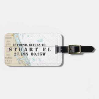 Étiquette À Bagage Longitude nautique de latitude de diagramme :
