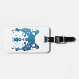 Étiquette À Bagage Loup de bleu glacier d'illustration