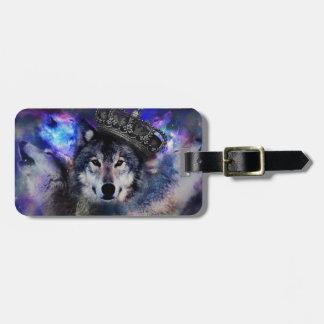 Étiquette À Bagage loup de roi - loup de couronne - loup gris