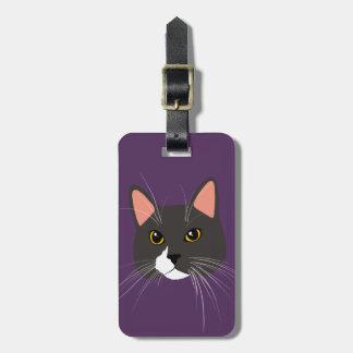 Étiquette À Bagage Madame grise Funny Meow Luggage Tag de chat