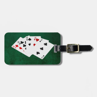 Étiquette À Bagage Mains de poker - deux paires - Dix, huit