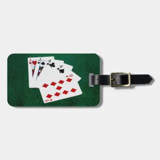 Étiquette À Bagage Mains de poker - deux paires - Jack, quatre