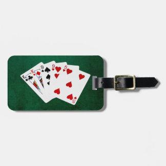 Étiquette À Bagage Mains de poker - deux paires - roi, neuf