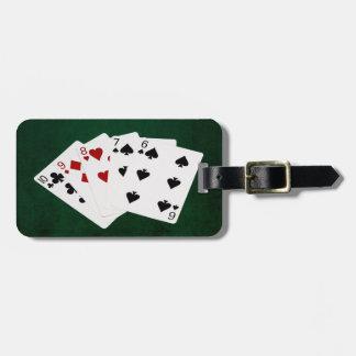 Étiquette À Bagage Mains de poker - directement - Dix à six