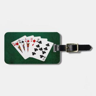 Étiquette À Bagage Mains de poker - directement - le Roi To neuf