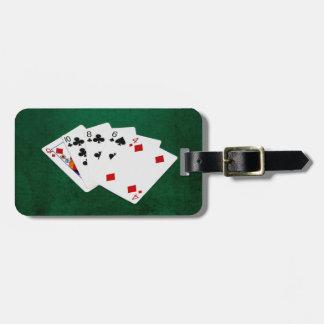 Étiquette À Bagage Mains de poker - haute carte - reine