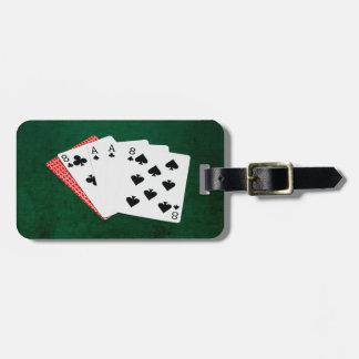 Étiquette À Bagage Mains de poker - la main de l'homme mort