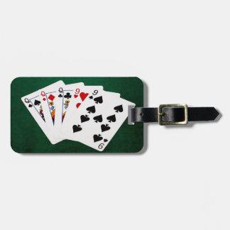 Étiquette À Bagage Mains de poker - pleine Chambre - reine et neuf