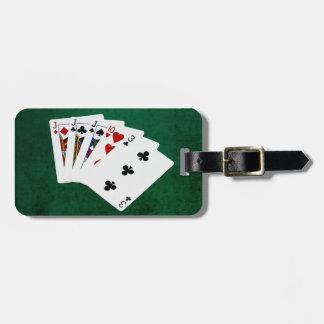 Étiquette À Bagage Mains de poker - trois d'une sorte - Jack