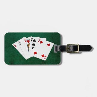 Étiquette À Bagage Mains de poker - une paire - as