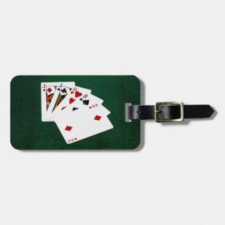 Étiquette À Bagage Mains de poker - une paire - Jack