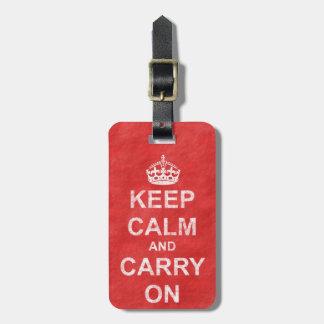 Étiquette À Bagage Maintenez calme et continuez le cru 2