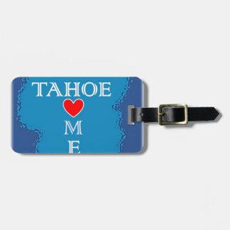 Étiquette À Bagage Maison du lac Tahoe