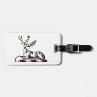Étiquette À Bagage Mâle de cerfs communs avec l'emblème héraldique de