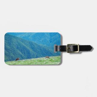 Étiquette À Bagage Mâles par les montagnes