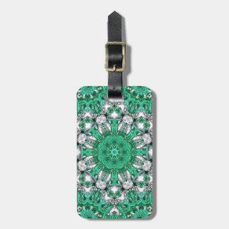 Étiquette À Bagage mandala de Bohème chic de vert vert de motif