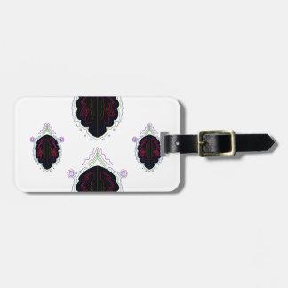 Étiquette À Bagage Mandala noir et blanc de luxe