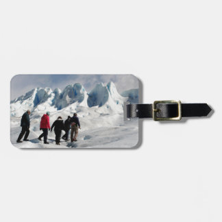 Étiquette À Bagage Marchant sur le glacier de Perito Moreno,