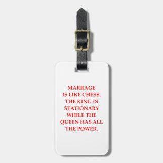 ÉTIQUETTE À BAGAGE MARIAGE