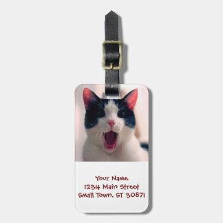 Étiquette À Bagage Meme de chat - chat drôle - memes drôles de chat -