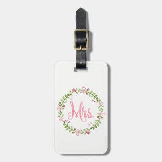 Étiquette À Bagage Mme Watercolor Luggage Tag