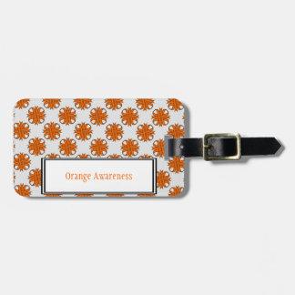 Étiquette À Bagage Modèle orange de ruban de trèfle