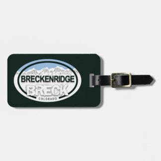 Étiquette À Bagage Montagne rocheuse BRECK de Breckenridge le