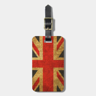 Étiquette À Bagage Motif antique rustique d'Union Jack