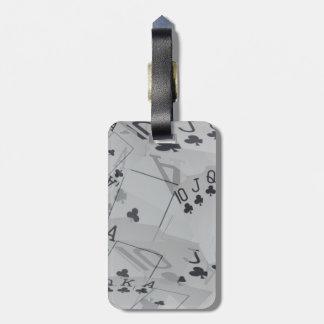 Étiquette À Bagage Motif royal de cartes de tisonnier de flux de