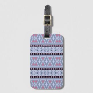 Étiquette À Bagage Motif tribal de fantaisie de frontière