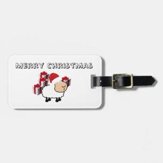 Étiquette À Bagage Moutons mignons lunatiques drôles de Noël
