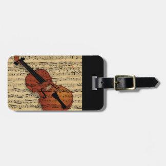 Étiquette À Bagage Musique de cru de violon