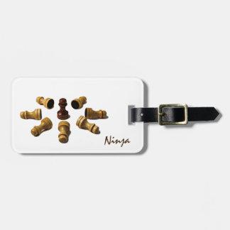 Étiquette À Bagage Ninja