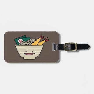 Étiquette À Bagage Nouilles de Japonais de crevette de nori de bol de