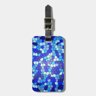 Étiquette À Bagage Nuances de verre souillé de bleu par Shirley