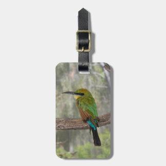 Étiquette À Bagage Oiseau d'abeille-mangeur d'arc-en-ciel, Australie