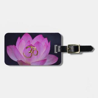 Étiquette À Bagage OM et la fleur de lotus