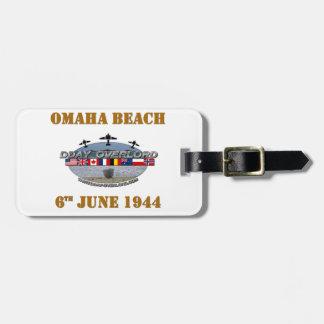 Étiquette À Bagage Omaha Beach 6th June 1944