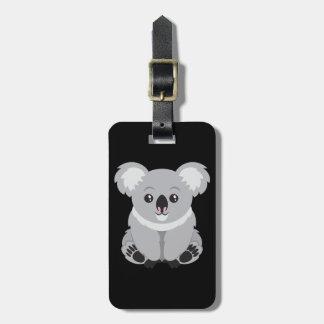 Étiquette À Bagage Ours de koala mignon de bande dessinée