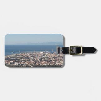 Étiquette À Bagage Panorama aérien de ville Toscane Italie de
