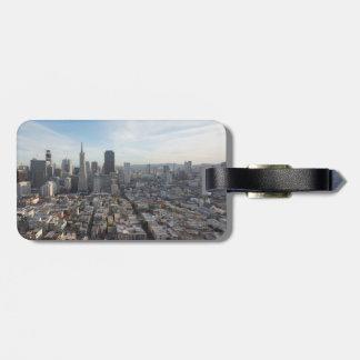 Étiquette À Bagage Panorama d'horizon de San Francisco