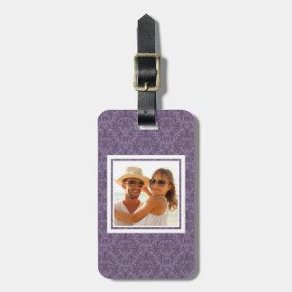 Étiquette À Bagage Papier peint pourpre de luxe de photo faite sur