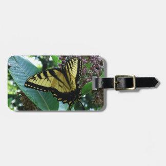 Étiquette À Bagage Papillon de machaon I sur le Milkweed chez