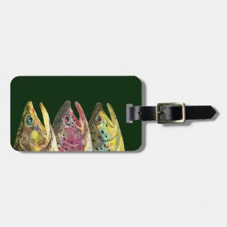 Étiquette À Bagage Pêche pour la truite de trois graisses